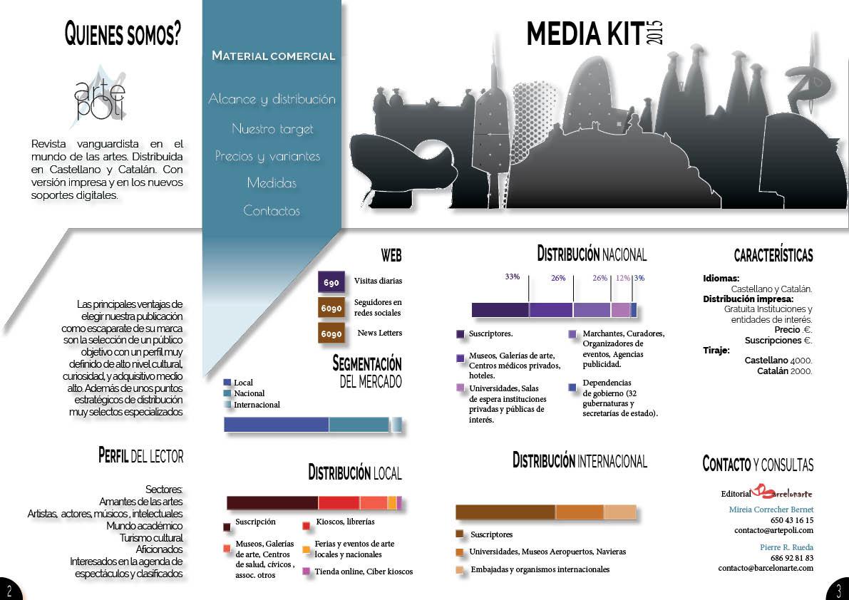 Revista vanguardista en el mundo de las artes. Distribuida en Castellano y Catalán. Con versión impresa y en los nuevos soportes digitales.