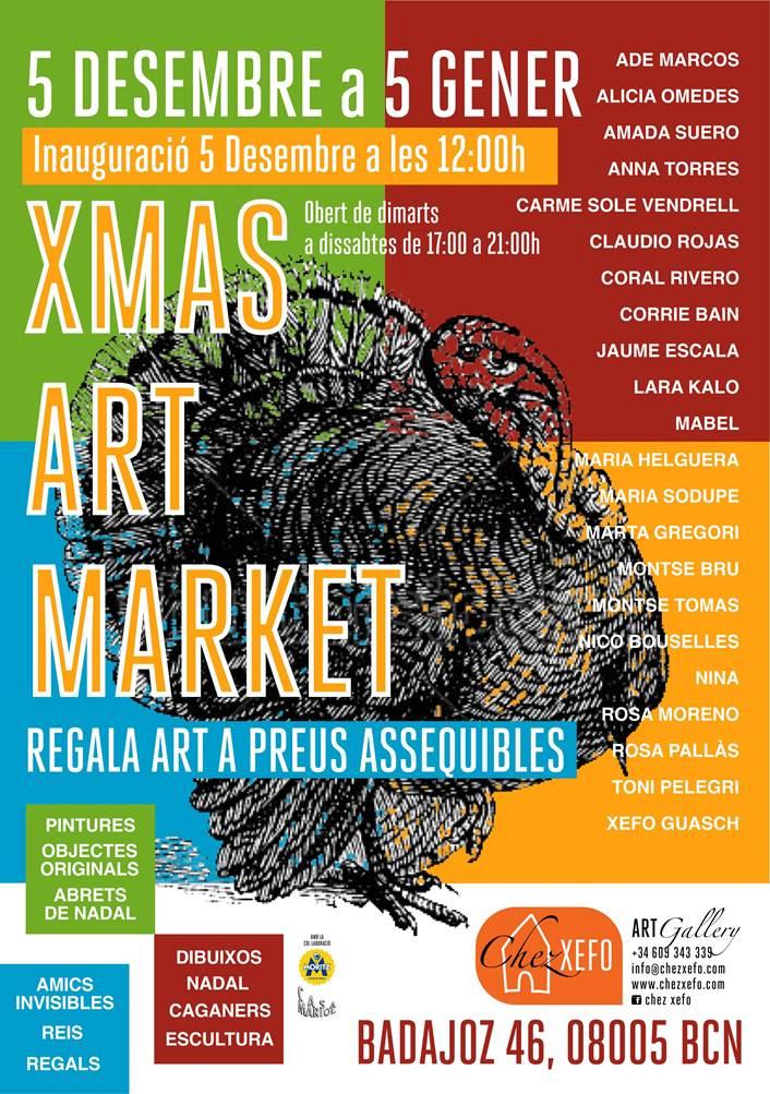 Xmas Art Market a Chez Xefo! Invitació inauguració 5/12