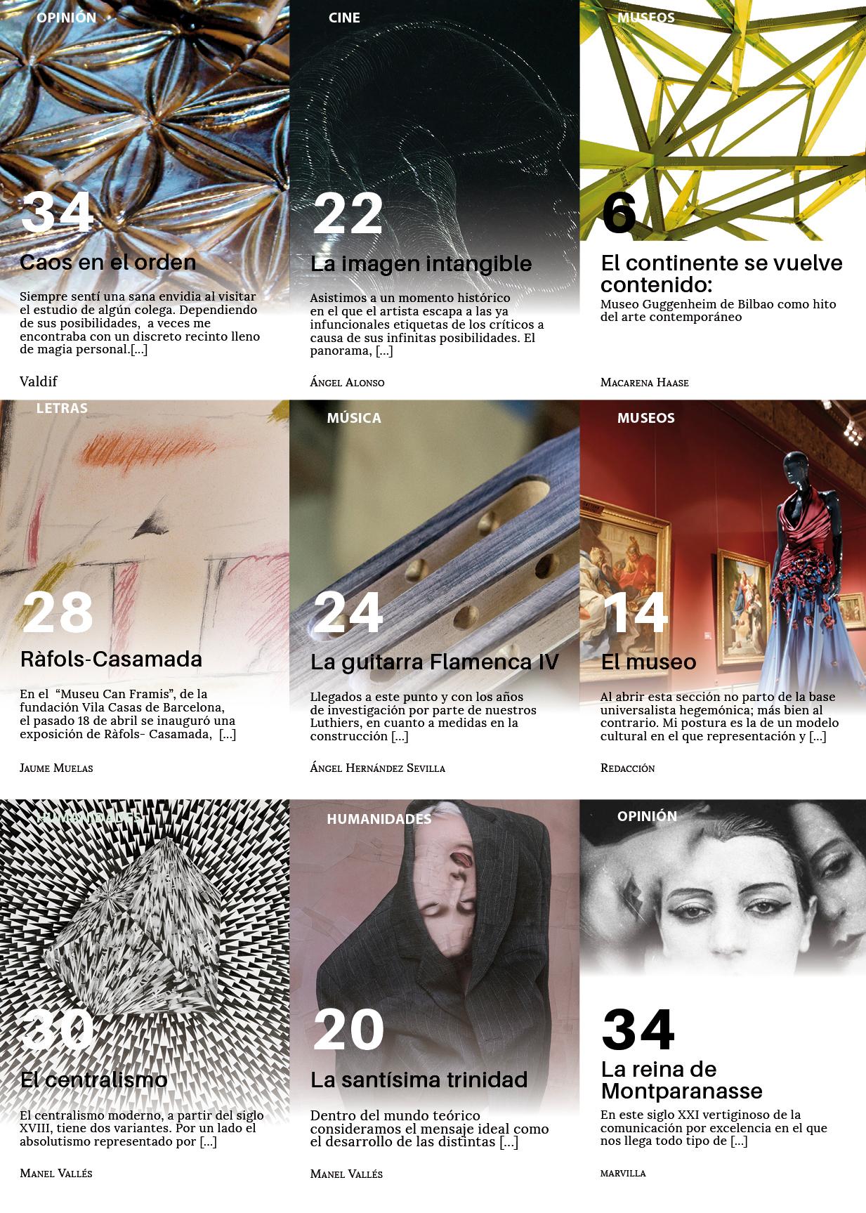 Sumario número 6 revista de arte