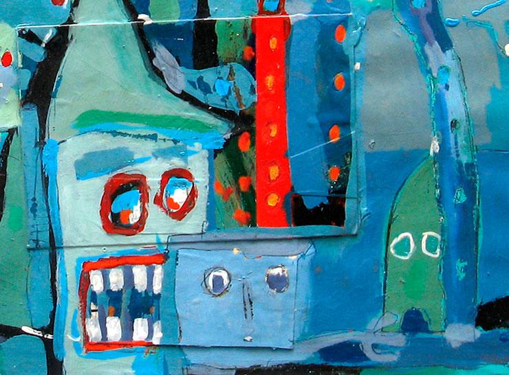 ARTE NEOREAL, óleo sobre lienzo de Juan Canals Carreras (esta obra participó en la feria)