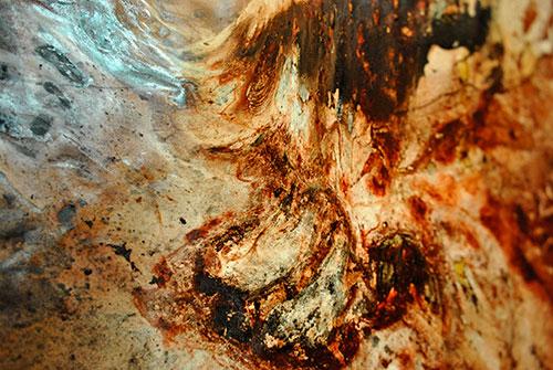 Macarena Haase Artista chilena en Galleria d'arte Mentana. Florencia