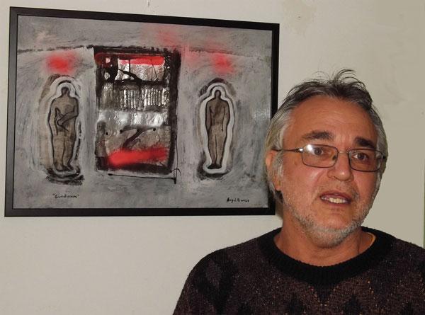 """Ángel Alonso en su estudio de """"Calaf"""" 2016"""