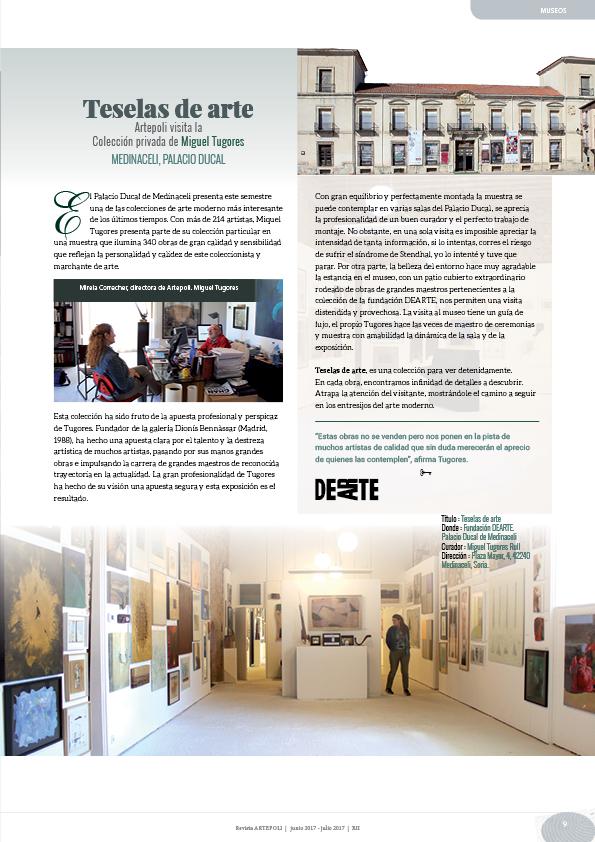 Teselas de arte Artepoli visita la Colección privada de Miguel Tugores Medinaceli, Palacio ducal