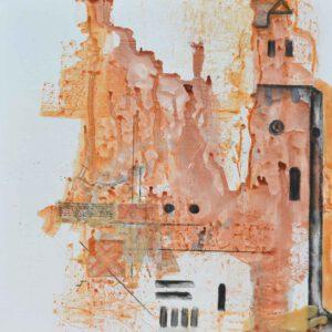 Iglesia San Lorenzo. 100x81 cm. Mixta lienzo