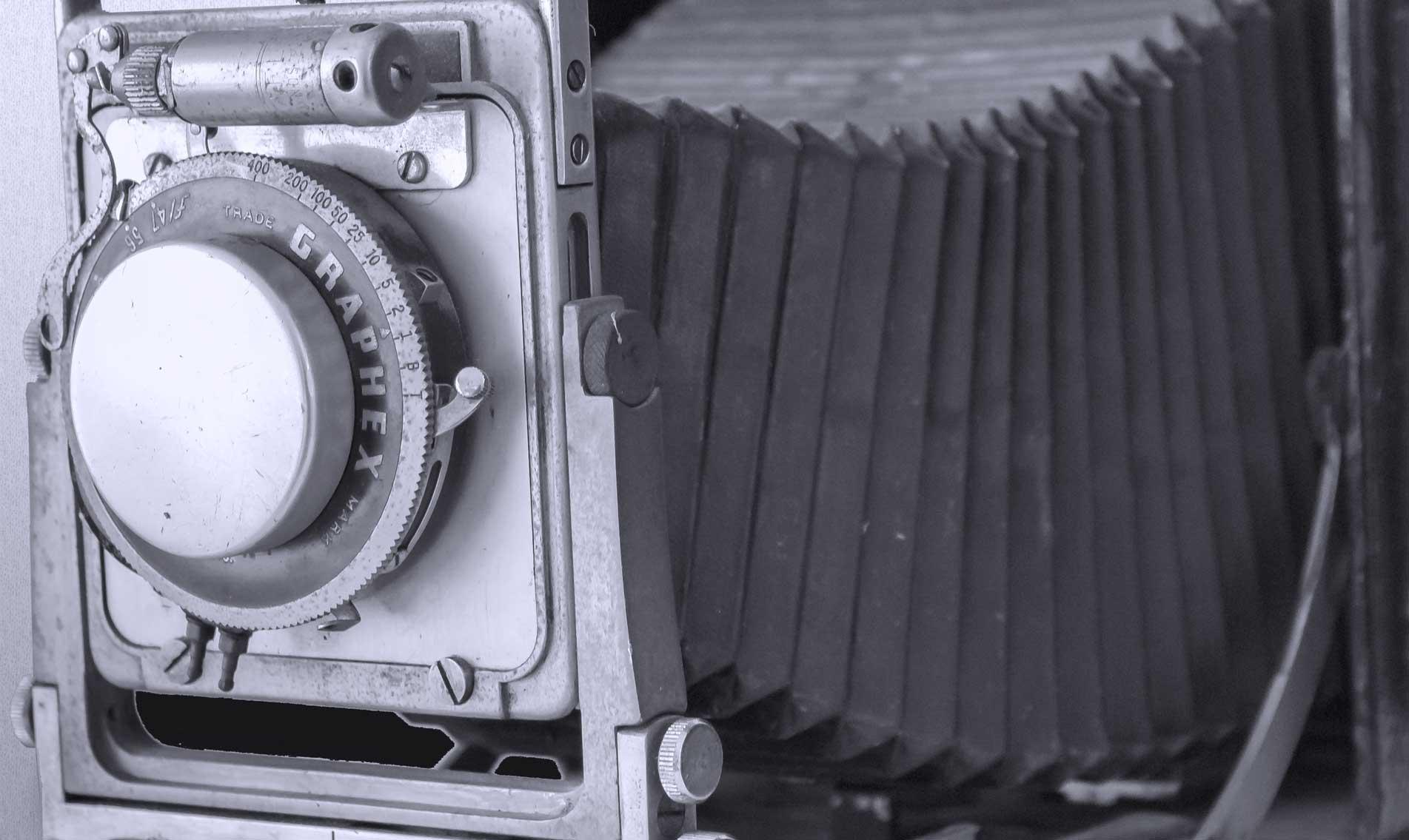 cámara antigua prensa
