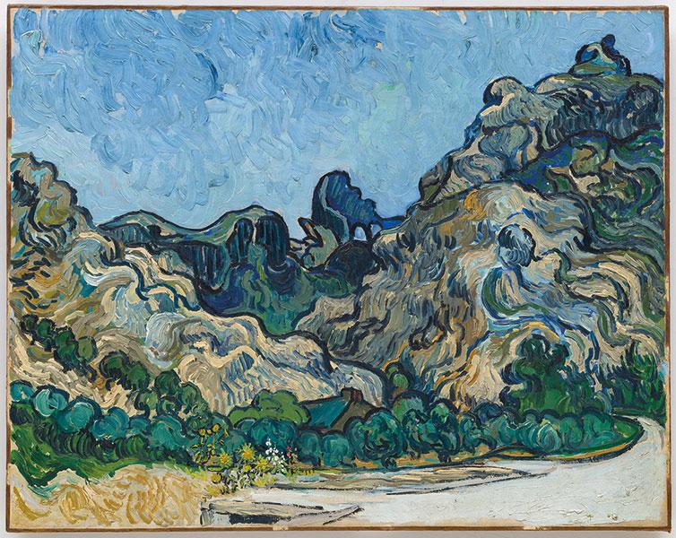 Vincent van Gogh Montañas de Saint-Remy