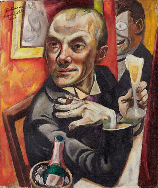 Max Beckman - Autorretrato con copa de champán