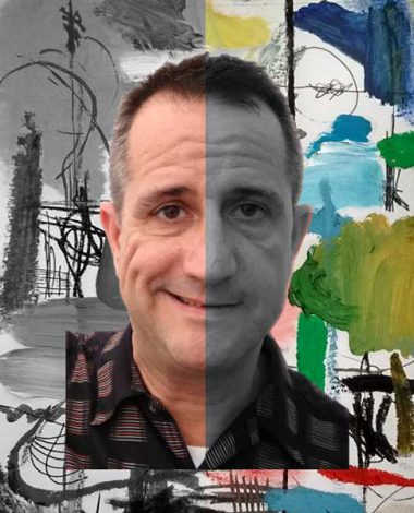 Dagravile. Artista Pintando en la oscuridad