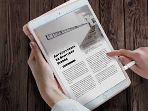 revista en tablet